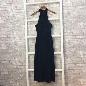 Gal Meets Glam Mia Twist Chiffon Midi Dress Size 8